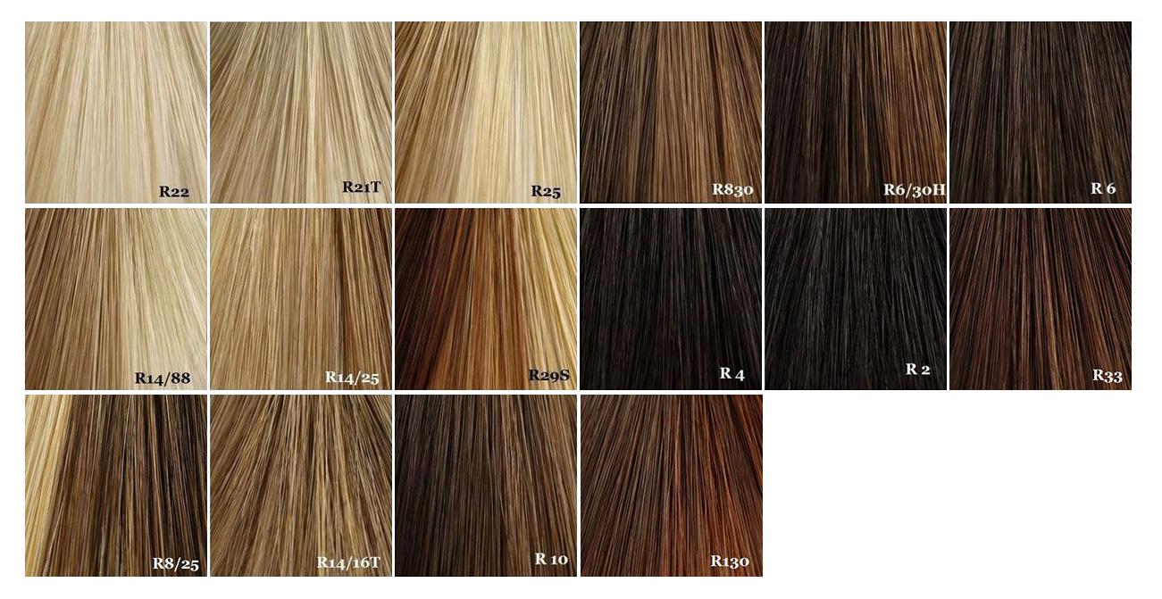 Dark Golden Brown Hair Color Chart