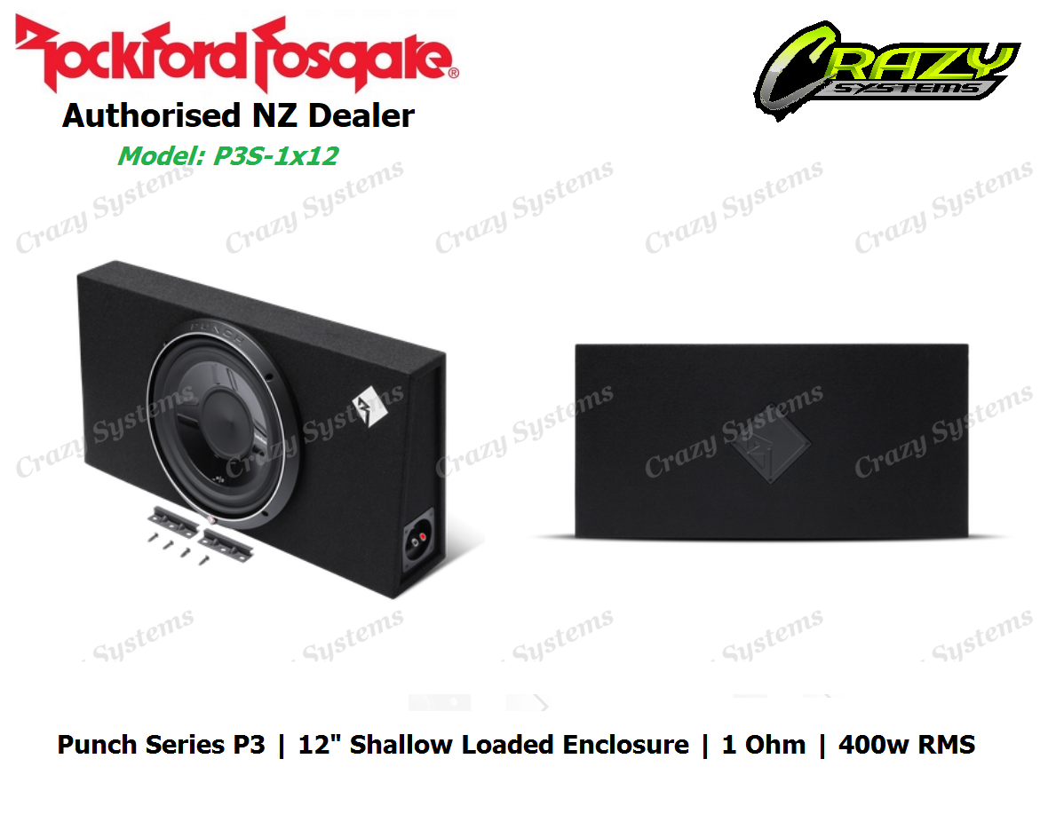 crazysystems - Rockford Fosgate P3S-1x12 Punch Single P3 12