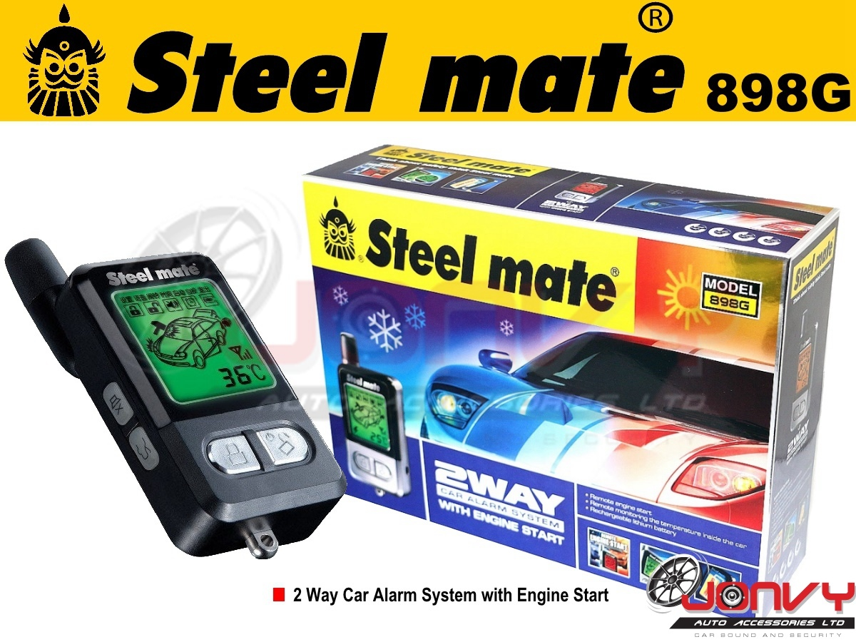 Jonvy Auto Steelmate 898g Car Alarm With Remote Start For Sale Cabin Mate Wiring Diagram Click Image To Enlarge
