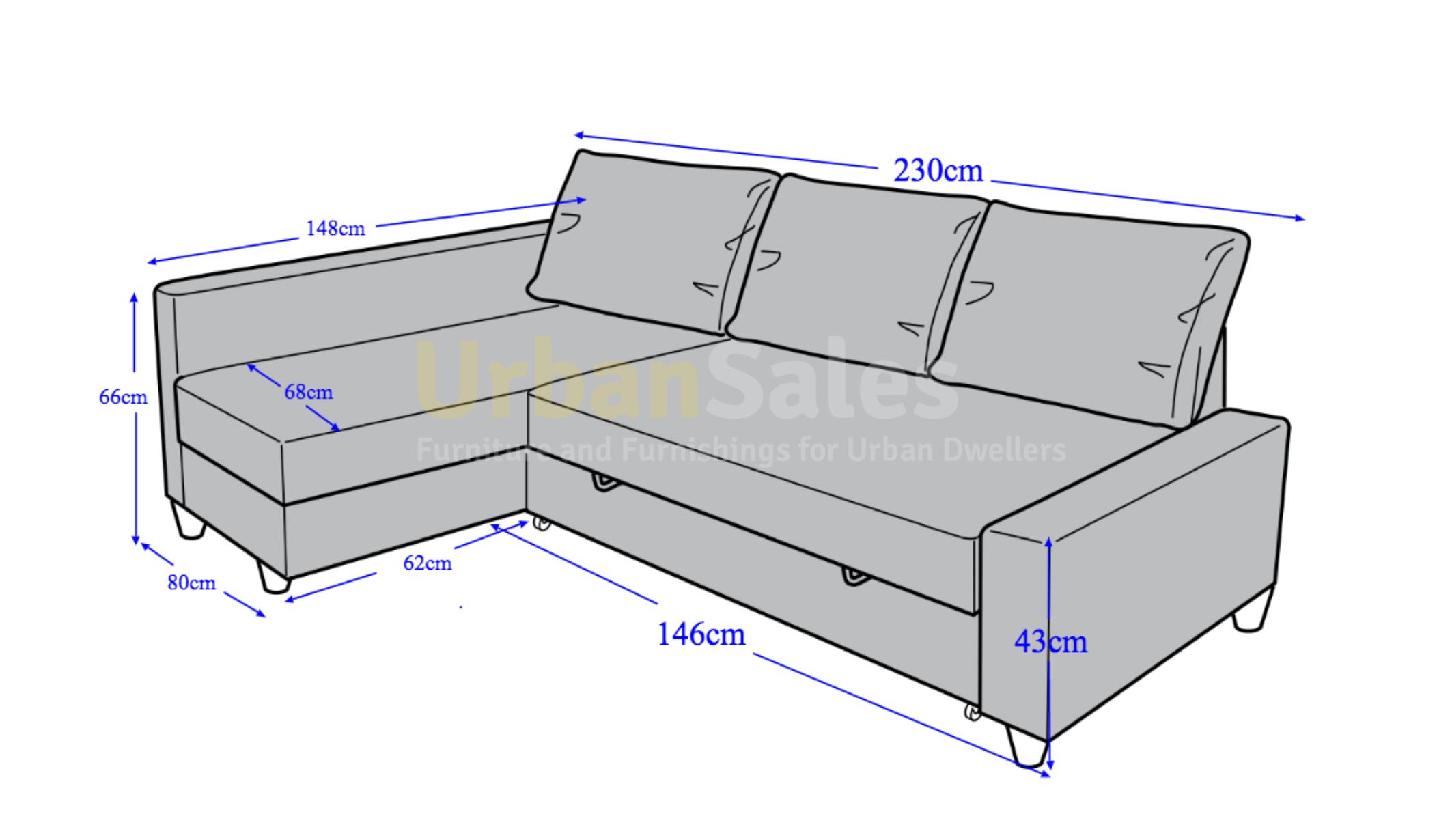 Small Corner Sofa Dimensions
